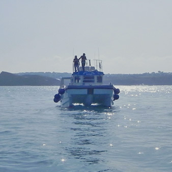 The Atlantic Diver - flagship of Newquay Sea Safaris and Fishing.