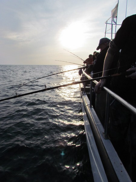 Fishing off the Atlantic Diver