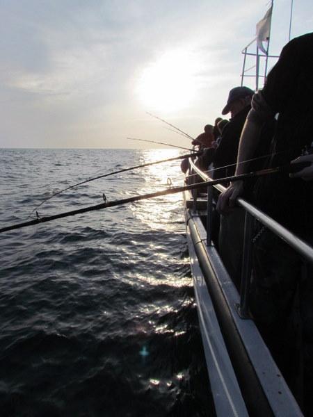 Fishing off the Atlantic Diver